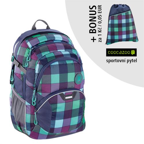 COOCAZOO - Školský ruksak JobJobber2, Green Purple District+ BONUS ŠPORTOVÝ VAK za 0,05 EUR
