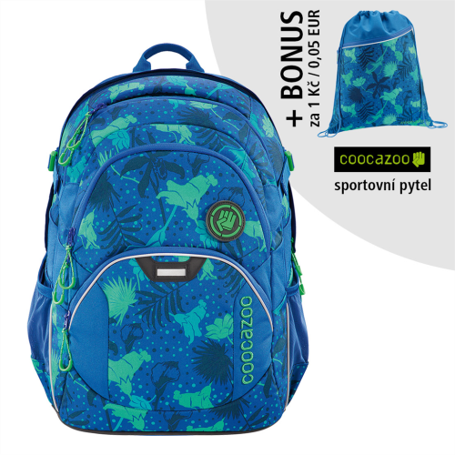 COOCAZOO - Školský ruksak JobJobber2, Tropical Blue+ BONUS ŠPORTOVÝ VAK za 0,05 EUR