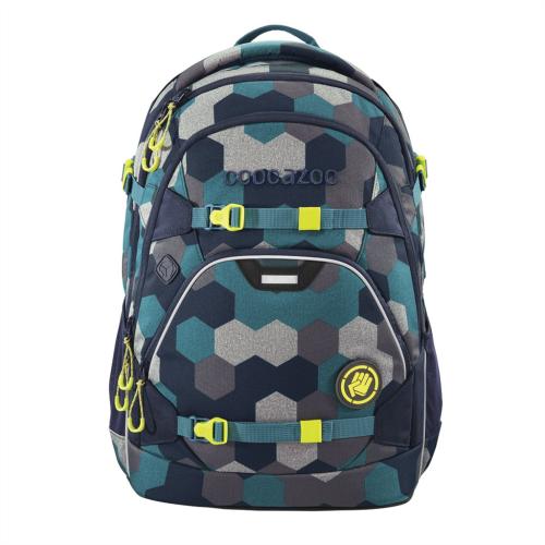 COOCAZOO - Školský ruksak ScaleRale, Blue Geometric Melange, certifikát AGR