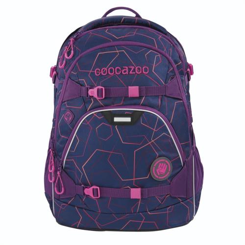 COOCAZOO - Školský ruksak ScaleRale, Laserbeam Plum, certifikát AGR