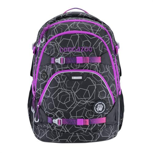 COOCAZOO - Školský ruksak ScaleRale, Laserreflect Berry, certifikát AGR