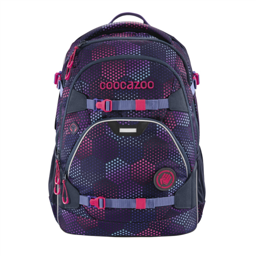 COOCAZOO - Školský ruksak ScaleRale, Purple Illusion, certifikát AGR