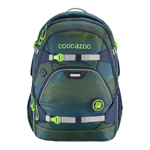 COOCAZOO - Školský ruksak ScaleRale, Soniclights Green, certifikát AGR