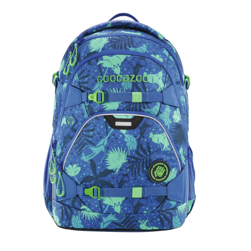 COOCAZOO - Školský ruksak ScaleRale, Tropical Blue, certifikát AGR