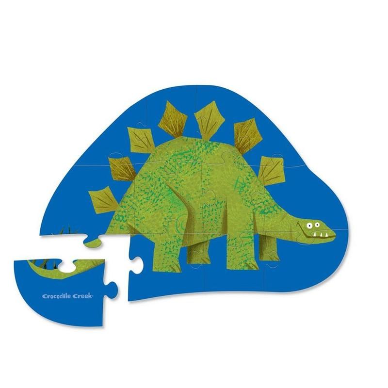 CROCODILE CREEK - Puzzle mini Stegosaurus 12ks
