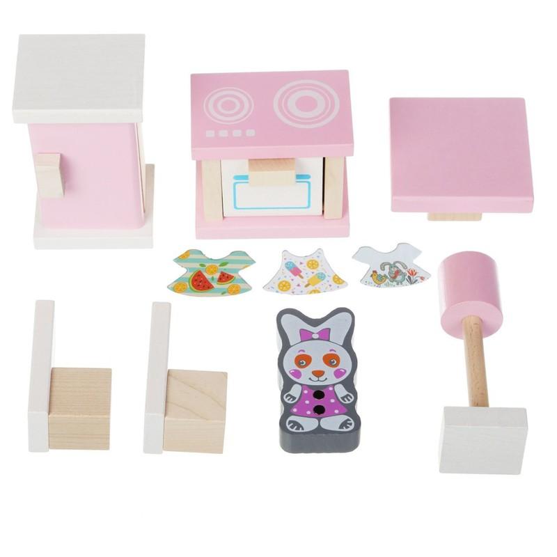 CUBIKA - 13975 Kuchynka - drevený nábytok pre bábiky