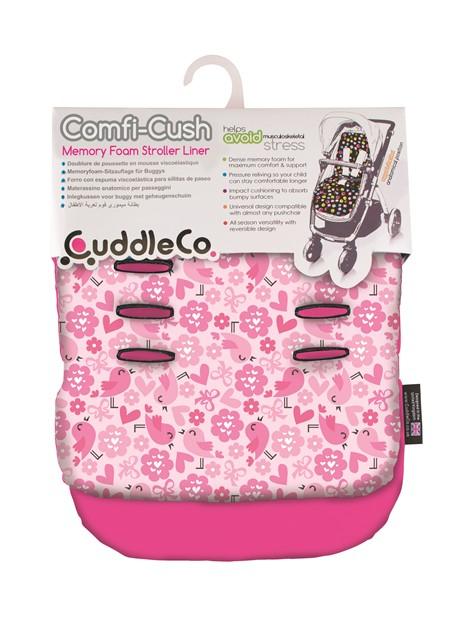 CUDDLECO - Pamäťová podložka do kočíka Comfy-cush - Flowers Birds