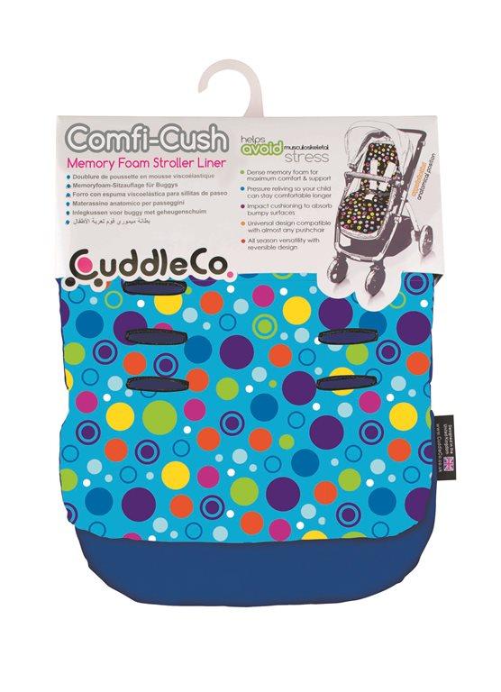 CUDDLECO - Pamäťová podložka do kočíka Comfy-cush - Spot the dot