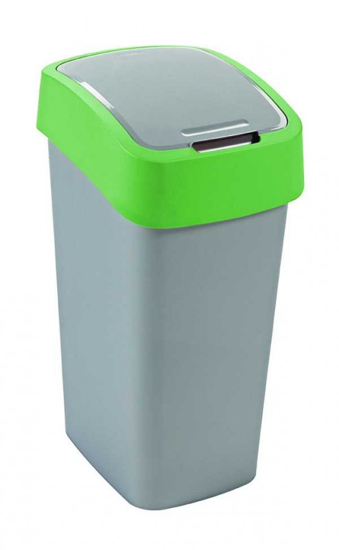 CURVER - Odpadkový kôš Flipbin 50 l, strieborno - zelený