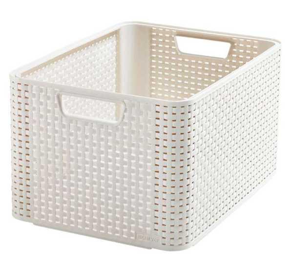 CURVER - Úložný box Rattan Style2 - L - krémová