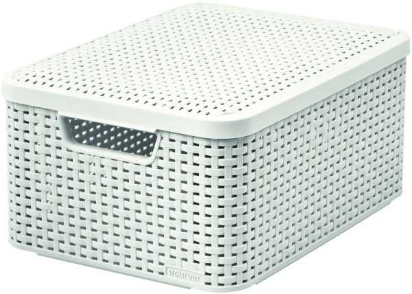 CURVER - Úložný box s vekom STYLE M, krémový