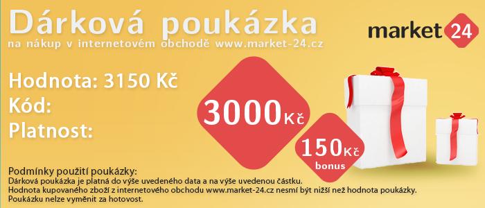 Darčeková poukážka - 3000 Kč + bonus 150 Kč
