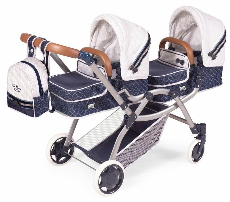 DECUEVAS TOYS - 80337 Skladací kočík pre dvojičky bábiky 3 v 1 s batôžkom TOP Collection 2020 - 8