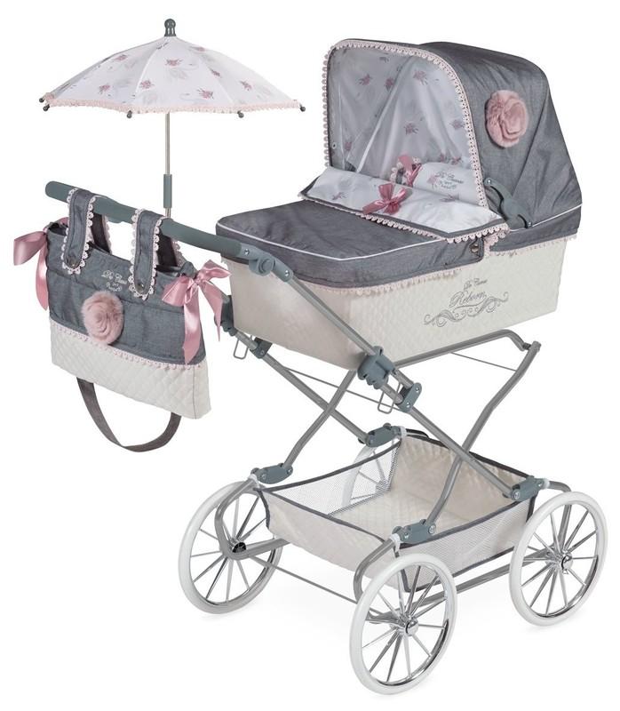 DECUEVAS TOYS - 82031 Skladací kočík pre bábiky REBORN so slnečníkom a doplnky Reborn 2019