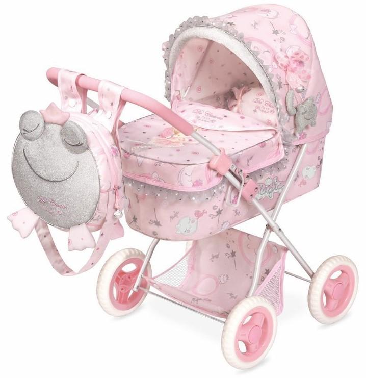 DECUEVAS TOYS - 85034 Skladací kočík pre bábiky s batôžkom a doplnkami Magic Maria 2020 - 60 cm