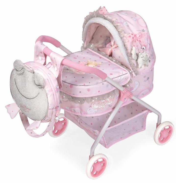 DECUEVAS TOYS - 86034 Môj prvý kočík pre bábiky s batôžkom a doplnkami Magic Maria 2020 - 56 cm