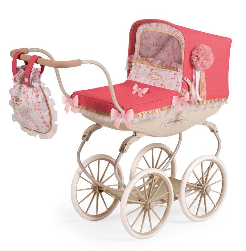 DECUEVAS TOYS - 87033 Kočík pre bábiky hlboký Martina 2020 - 68 cm