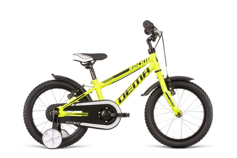 DEMA - Bicykel ROCKIE 16 FW neon yellow-black