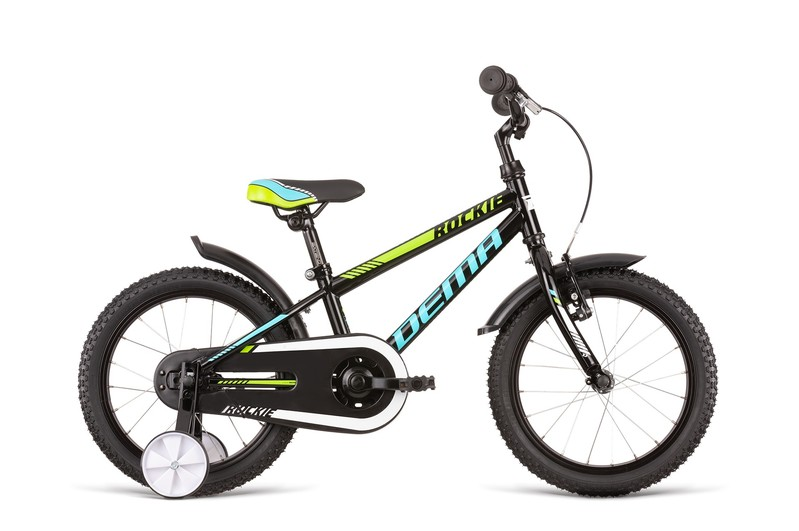 DEMA - Bicykel ROCKIE 16 neon yellow-black