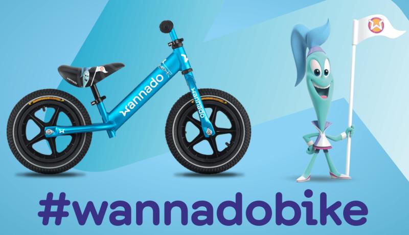 DEMA - Odrážadlo Wannado Naila blue
