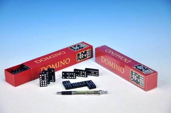 DETOA - Domino spoločenská hra drevo 55 ks v krabičke 23,5x3,5x5cm
