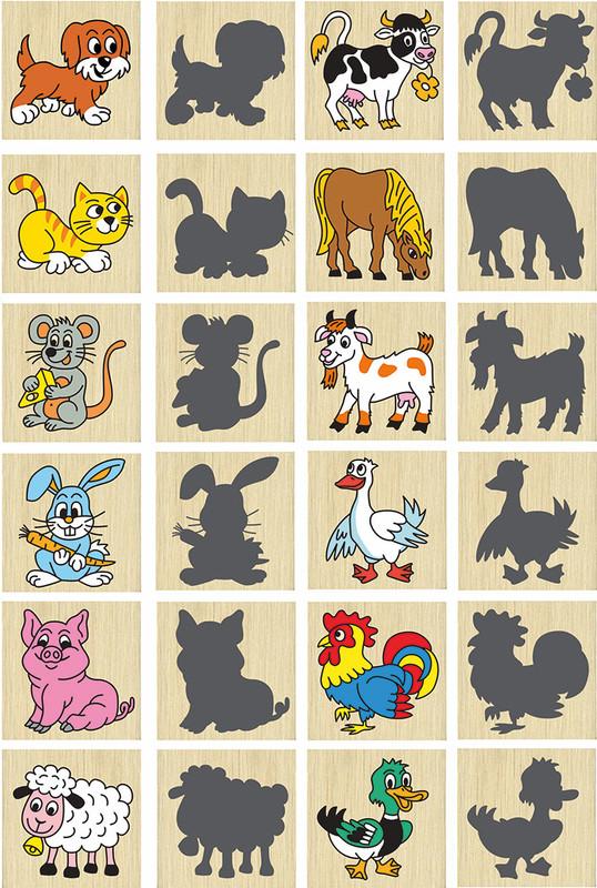 DETOA - Pexeso zvieratka a ich stiene