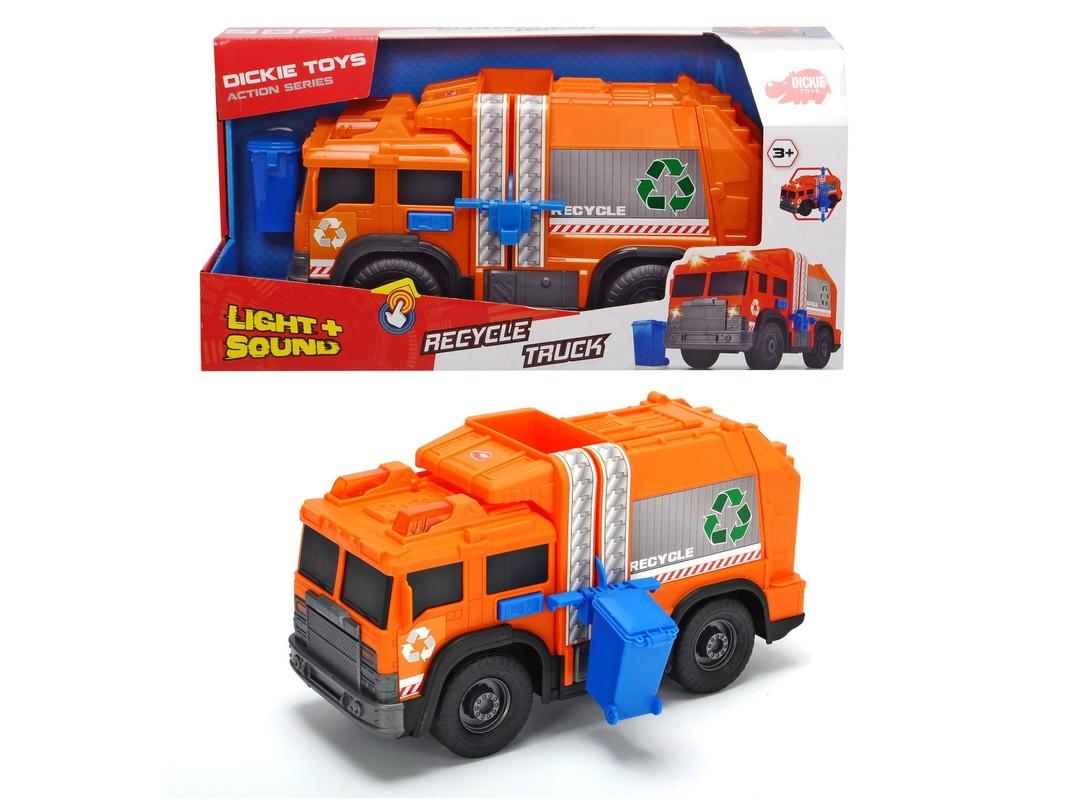 DICKIE - Action Series Smetiarske recyklačné auto 30cm
