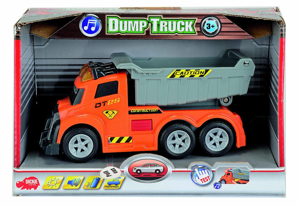 DICKIE - As Dump Truck 15 Cm, Svetlo, Zvuk