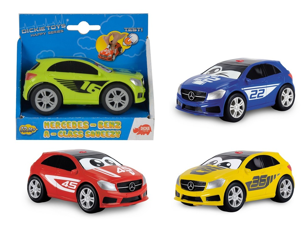 DICKIE - Auto Happy Mercedes A-Class Squeezy 11 Cm, 4 Druhy