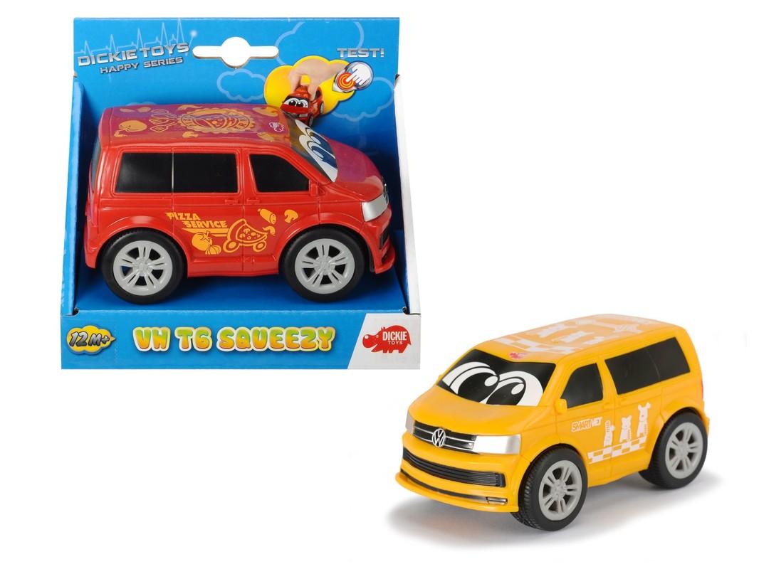 DICKIE - Auto Happy Vw T6 Squeezy 11 Cm, 2 Druhy