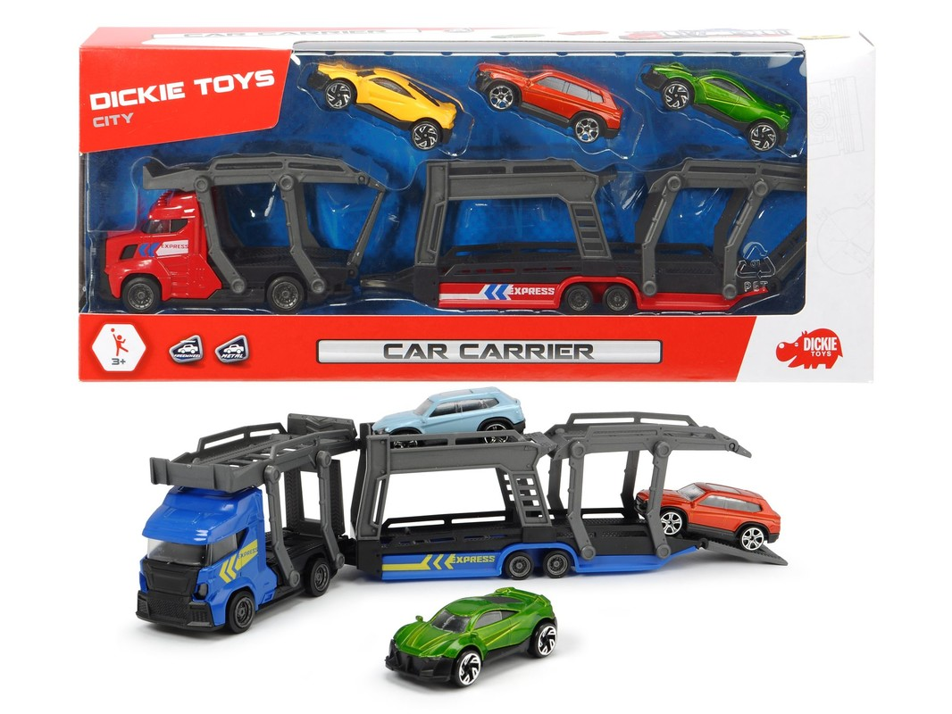 DICKIE - Autotransportér 28 cm + 3 autíčka, 2 druhy