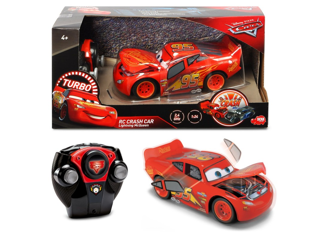 DICKIE - Cars 3 Blesk McQueen Crazy Crash