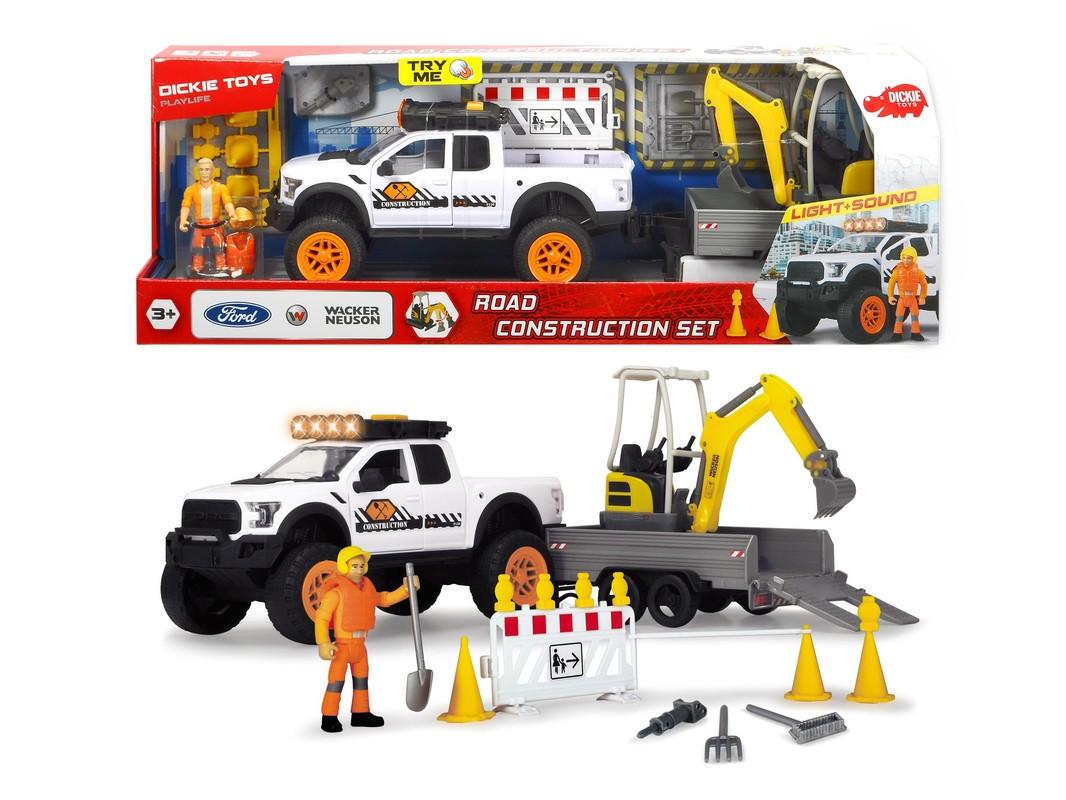 DICKIE - Ford Raptor Súprava Cestnej Stavby 40,5 Cm