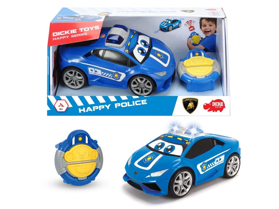 DICKIE - HaPolly Pockety Cars Auto Happy policajné 27 cm