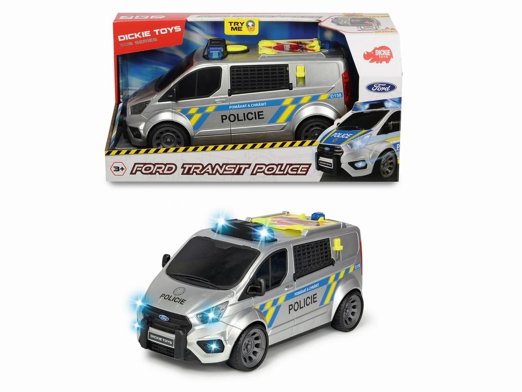 DICKIE - Policajné auto Ford Transit, česká verzia
