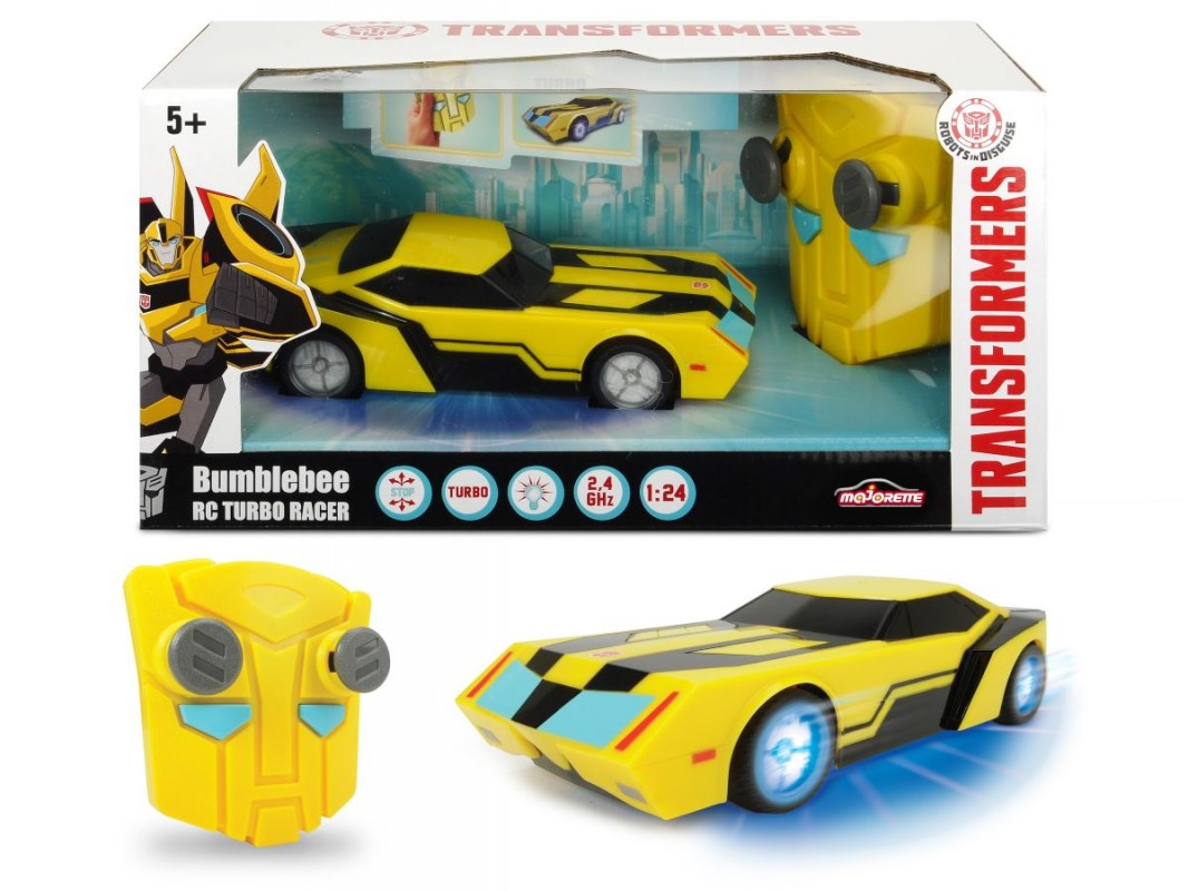 DICKIE - RC Transformers RC Turbo Racer Bumblebee 1:24, 18 cm, 2kan