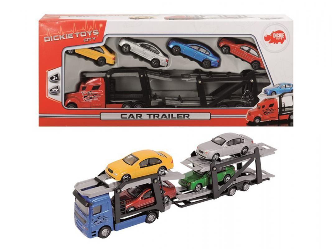 DICKIE TOYS - 3745000 Autotransportér + 4 autíčka