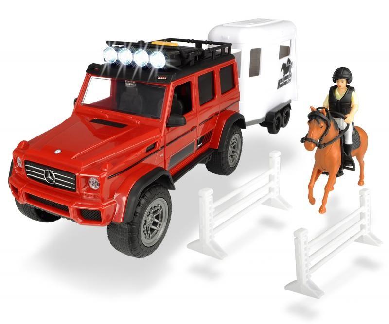 DICKIE TOYS - Dickie Mercedes V8 S prívesom na koňa 40 cm 3838002