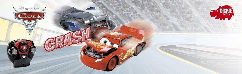 DICKIE TOYS - RC Cars 3 Blesk McQueen Crazy Crash 3084018