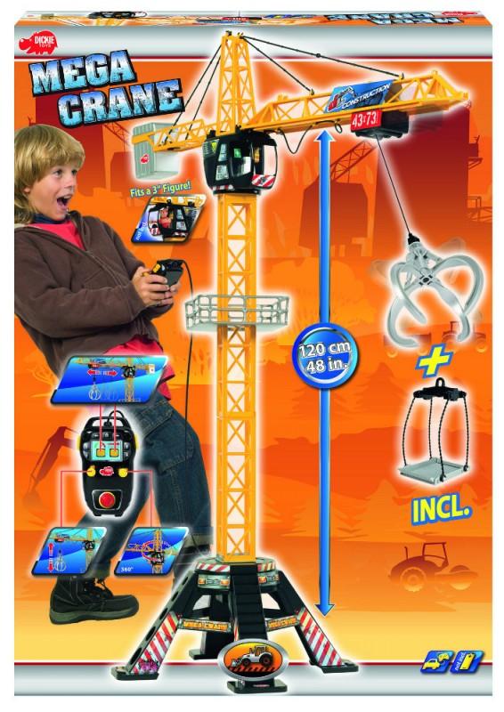 DICKIE - Žeriav Mega Crane 120cm, na kábel