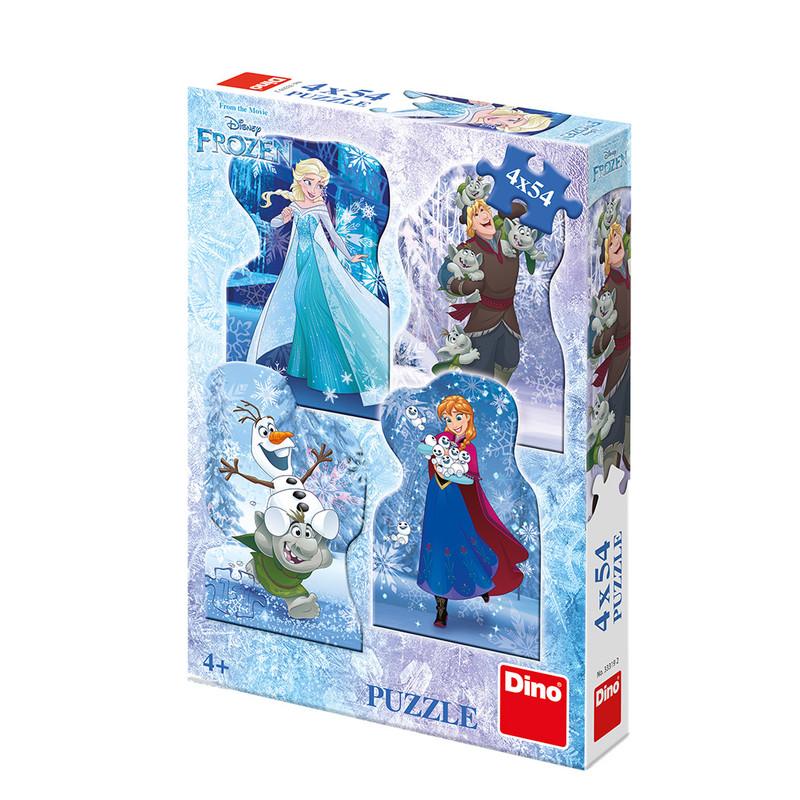 DINO - Frozen: Zimná Rozprávka 4X54 Puzzle Nové