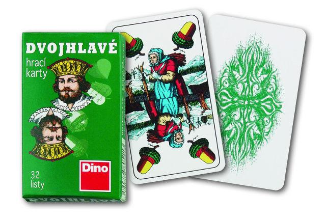DINO - Hracie Karty Dvojhlavé
