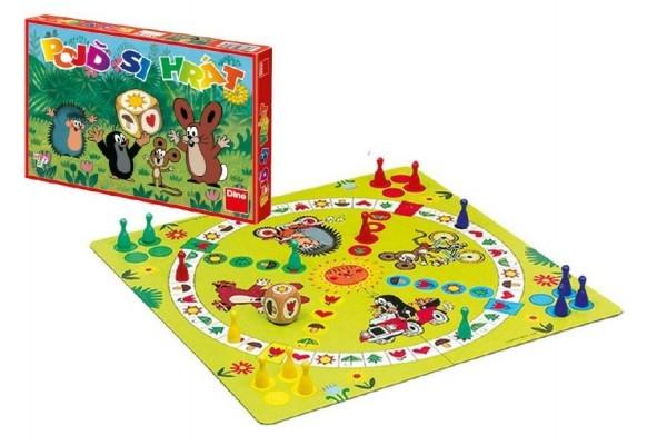 DINO - Poď sa hrať Krtko detská spoločenská hra 33x23x3,5cm v krabici