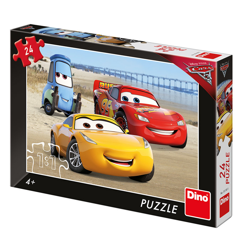 DINO - Walt Disney Cars 3: Na pláži 24 dielikov