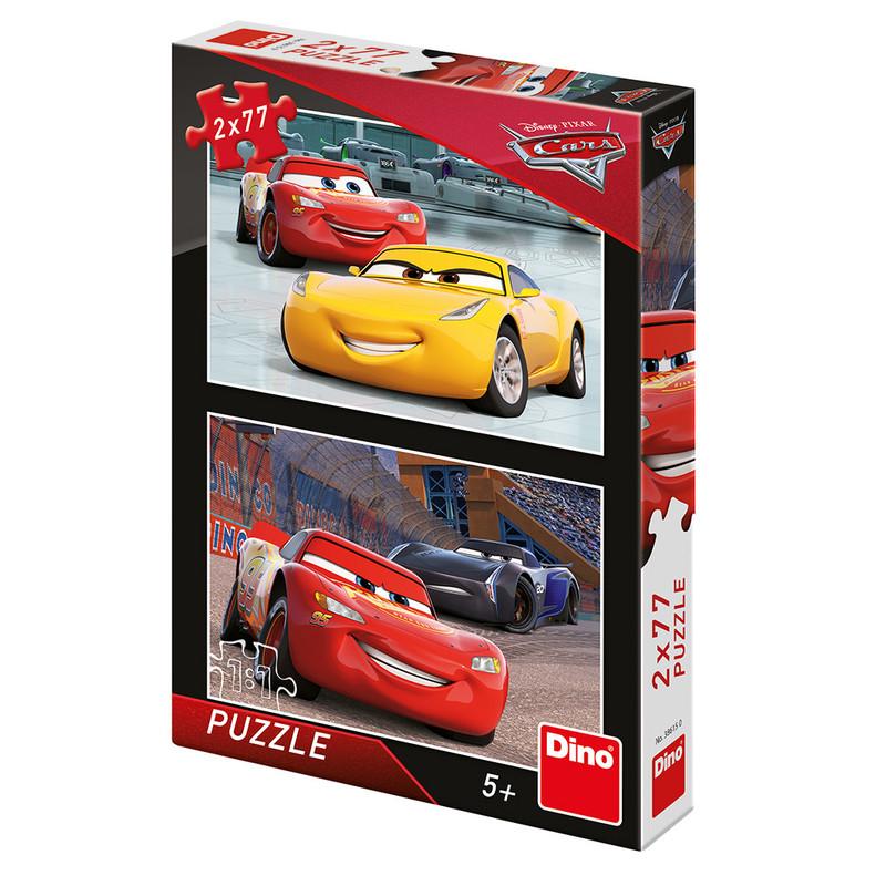 DINO - Walt Disney Cars 3: Pretekári 2x77 dielikov