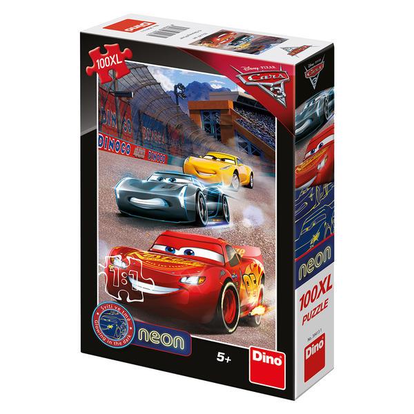 DINO - Walt Disney Cars3: Víťazné kolo 100 dielikov XL neon