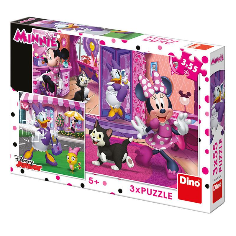 DINO - Walt Disney Deň s Minnie 3x55 dielikov