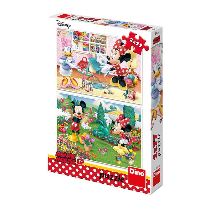 DINO - Walt Disney Pracovitá Minnie 2x77 dielikov