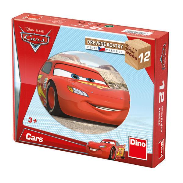 DINOTOYS - Drevené kocky Cars vo svete 12 ks