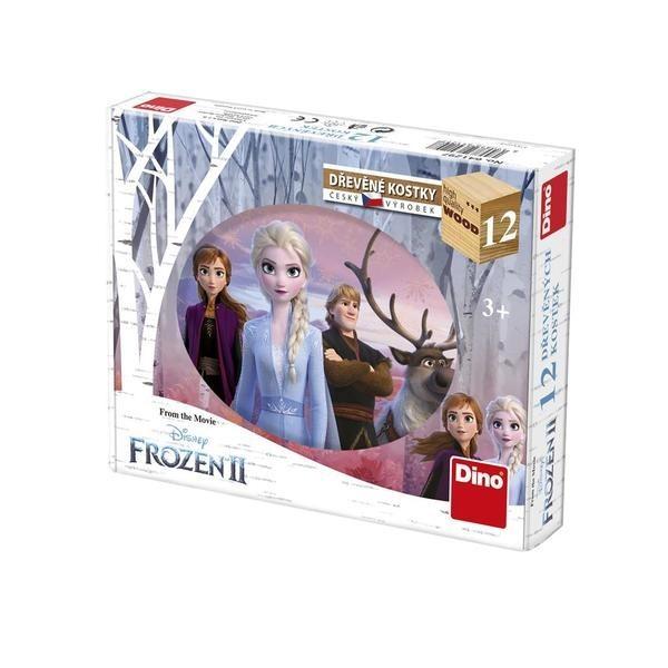 DINOTOYS - Drevené kocky Frozen II 12 ks